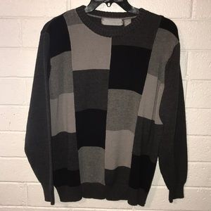 Oscar de la Renta grey block sweater